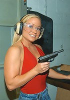 These 3 milfs got frisky at the shooting range and came back to much the rug