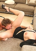 amazing staked hot ass big tits milf nailed hard in these couch fucking pics