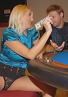 hot mini skirt milf fucked at a pool hall tournament sex table fucking pics