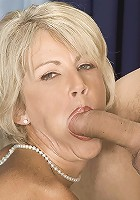 Big boobed milf sucking and fucking a huge cock