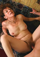 Mature whore gets fucked and drenched with jizz