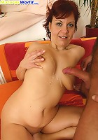 Hairy guy pumps a lustful milf and creams her rack