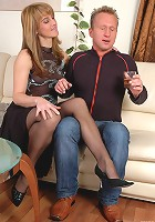 Martha&Adrian pantyhosefucking seductive mature gal