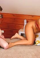 Hilda&Dorian pantyhosefucking pretty mature woman