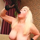 Big tit granny swallowing cock to the hilt