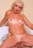 Slutty GILF enjoying a mouthful of meat stick