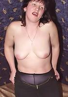 Chubby Mature Brunette Posing Naked