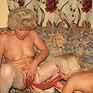 Mature babes Steph And Julianna resort to sharing a dildo and eating out seasoned cunts