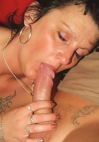 Sexy older babe Marsha gets her hands on a young cock and slides it into her mouth to work it