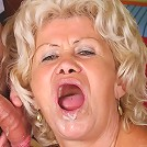 Buxom grandma Francesca handles her boobies while a hunk pumps his dick deep into her ripe snatch