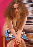 Breasty mature hottie squeezing suckable nipples
