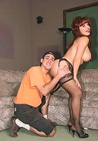 Smoking hot mature redhead Whitney Wonders flaunts her tits and dishes out an experienced blowjob