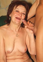 A pretty older woman named Paula shows off her curves and experienced cock slurping