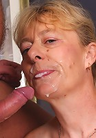 Naughty older babe Maria gets a good size cock to suck on to and cram into her wet pussy