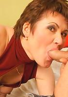 Horny mature creampie sandwich slut