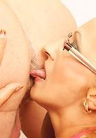 This horny blonde mature slut loves a creampie