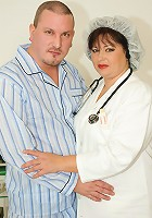 Big mature nurse gets an anal creampie surprise