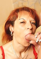 Horny mama getting a warm creampie