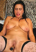 Kinky housewife rocking her pussy