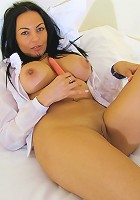 Hot mature lady playing with her steamy body