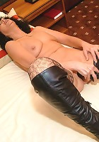 Kinky hot mature slut showing off and playing