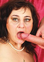This toy boy is pleasing a chubby mature slut