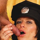Female mature cop getting nasty with a criminal