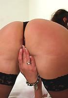 Horny mature slut enjoying a big hard cock