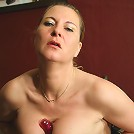 This kinky housewife loves to play with her toy