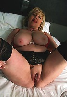 Big breasted mature slut getting naughty