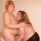 Two chubby lesbian housewife licking and playing