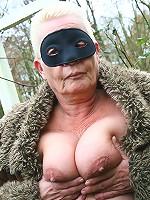 Kinky mature nudist goes all the way
