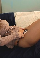 Horny MILF stuffing her wet pussy