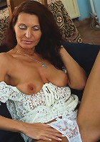 Naughty housewife giving us a private show