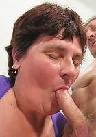 Kinky mama doing two mature men
