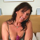 Horny housewife getting off on her dildo