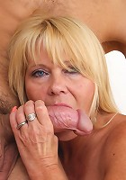 Horny blonde housewife sucking and fucking hard