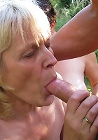 A wild mature sexparty in the forest gets hot