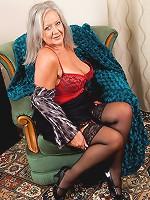 Business woman April Thomas reveals her sexy lingerie