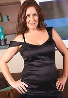 Hot milf in her black lingerie teasingly sexy