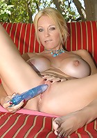 Lovely milf gets naughty by the pool