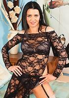 Anilos model Sienna Richardson seduces in her sheer evening wear