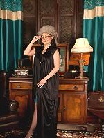 Classy milf Sophia Delane plays naughty dress up