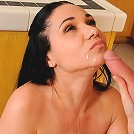 Anilos Tacori Blu gets her pussy rammed and gets jizz all over her face