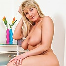 Anilos housewife Vanessa Sweets spreads her super tight hairy pussy