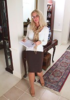 Popular 39 year old MILF Ingrid gets out of her office clothes for you