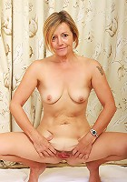 Blonde Susie from AllOver30 works out her 48 year old body naked
