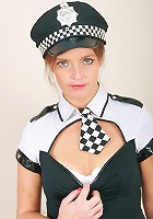 Sexy 34 year old Marie strips out of her cops uniform and spreads