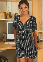 Sexy and exotic Neela peels off her office attire after a hot phonecall