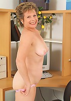 55 year old Judy from AllOver30 showing off her hairy pussy